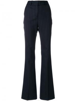 Широкие брюки в тонкую полоску Filles A Papa. Цвет: синий