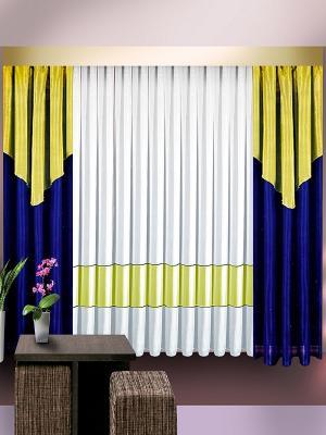 Комплект штор ZLATA KORUNKA. Цвет: синий, желтый