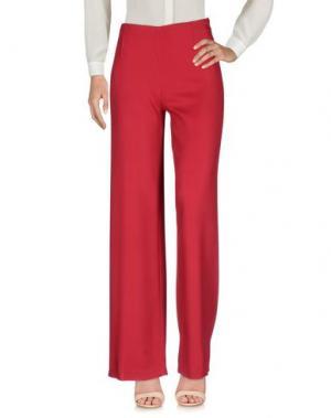 Повседневные брюки LAVINIATURRA. Цвет: красный