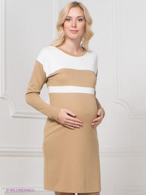 Платье Mamita. Цвет: бежевый, молочный