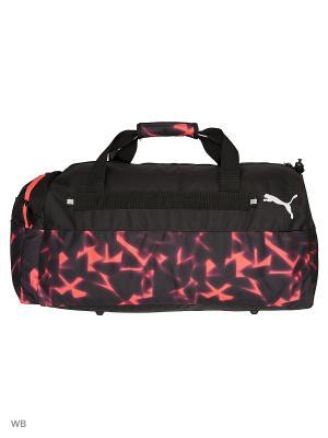Сумка Fund. Sports Bag Graphic M Puma. Цвет: черный, лиловый
