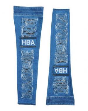 Гетры для ног HBA HOOD BY AIR. Цвет: пастельно-синий