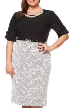 Платье Zedd Plus. Цвет: black, white