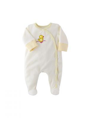 Комбинезон нательный для малыша Наша Мама. Цвет: светло-желтый
