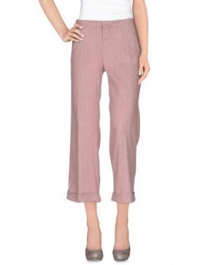 Повседневные брюки ZHELDA. Цвет: пастельно-розовый