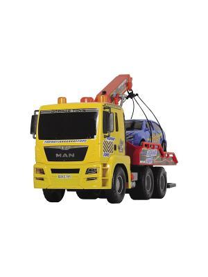 Эвакуатор с машинкой, 55см и 26 см., 1/3 Dickie. Цвет: желтый, красный, синий, черный