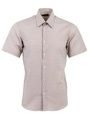 Рубашка Hans Grubber. Цвет: коричневый