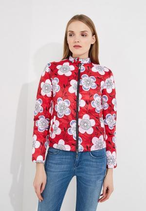 Куртка утепленная Emporio Armani. Цвет: разноцветный