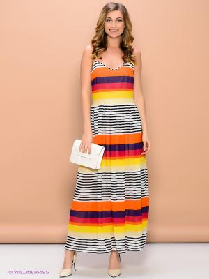 Платье ELENA FEDEL. Цвет: красный, белый