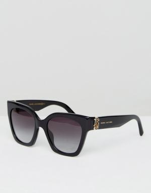 Marc Jacobs Черные солнцезащитные очки кошачий глаз с логотипом. Цвет: черный
