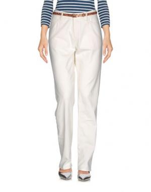 Джинсовые брюки BELLEROSE. Цвет: белый