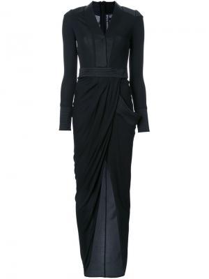 Длинное платье Bianca Thomas Wylde. Цвет: чёрный