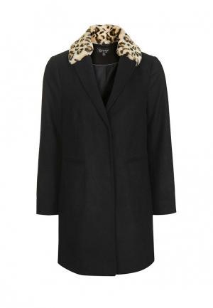Пальто Topshop. Цвет: черный