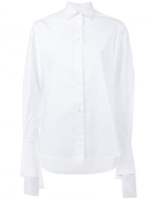 Рубашка с завязками на узлы Robert Rodriguez. Цвет: белый