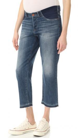 Прямые джинсы для беременных Patti с высокой посадкой DL1961. Цвет: staggered