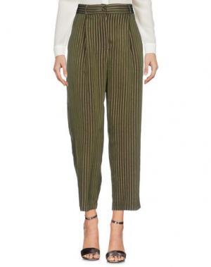 Повседневные брюки SUOLI. Цвет: зеленый