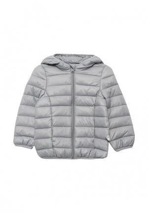 Куртка утепленная United Colors of Benetton. Цвет: серый