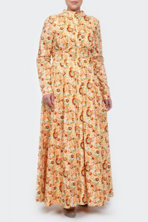 Платье Стеллина NATALIA PICARIELLO. Цвет: оранжевый