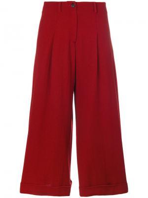 Укороченные брюки Dietrich Société Anonyme. Цвет: красный