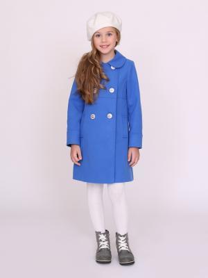 Пальто nasha. Цвет: лазурный