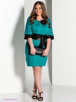 Платье Amelia Lux. Цвет: зеленый, черный