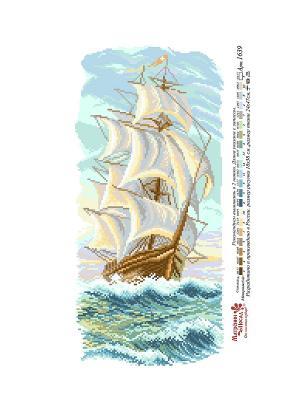 Рисунок на канве Утренний бриз Матренин Посад. Цвет: белый, голубой