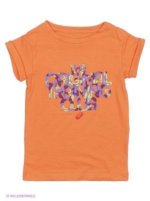 Футболка GIRLS SS TOP ASICS. Цвет: оранжевый