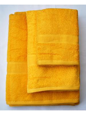 Комплект полотенец Макси 3 предмета 50х100, 70х140, 100х180. La Pastel. Цвет: желтый