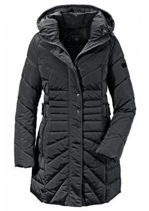 Стеганое пальто VIVANCE. Цвет: черный
