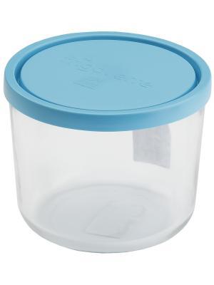 Контейнера стеклянные B339140-1  Bormioli Rocco Стеклянный контейнер Frigoverre круглый высокий d-1. Цвет: синий