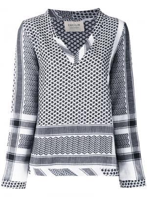 V-neck blouse Cecilie Copenhagen. Цвет: чёрный