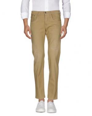 Джинсовые брюки (+) PEOPLE. Цвет: песочный