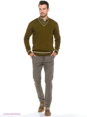 Пуловер JB casual. Цвет: оливковый