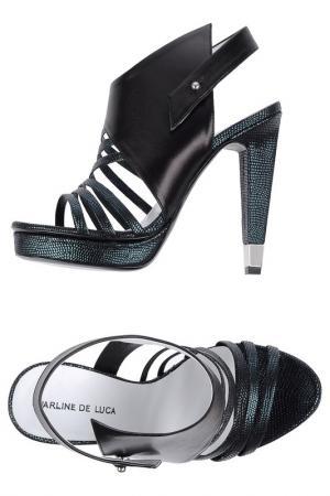 Босоножки на каблуках CHARLINE DE LUCA. Цвет: blue and black