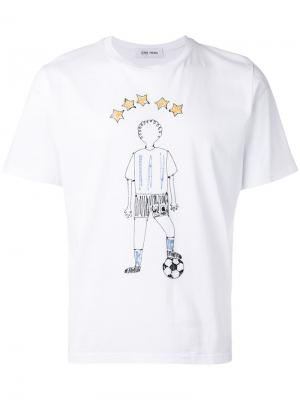 Embroidered football T-shirt Jimi Roos. Цвет: белый