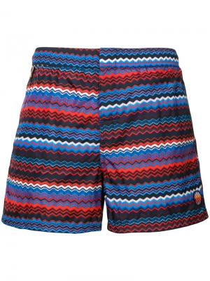 Striped swimming trunks Missoni Mare. Цвет: синий
