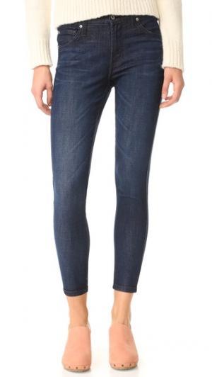 Джинсы до щиколоток со средней посадкой James Twiggy Jeans. Цвет: голубой