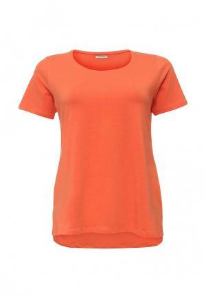 Футболка Fiorella Rubino. Цвет: оранжевый