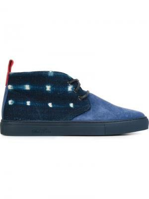 Хайтопы на шнуровке Del Toro Shoes. Цвет: синий