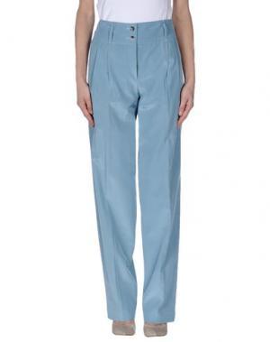 Повседневные брюки ALBINO. Цвет: небесно-голубой