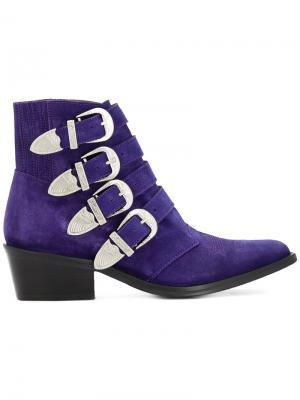 Ковбойские ботинки Toga Pulla. Цвет: розовый и фиолетовый