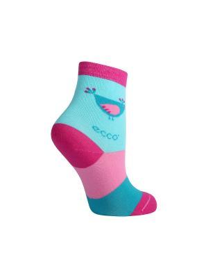 Носки ECCO. Цвет: розовый