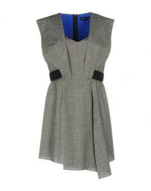 Короткое платье JONATHAN SAUNDERS. Цвет: свинцово-серый