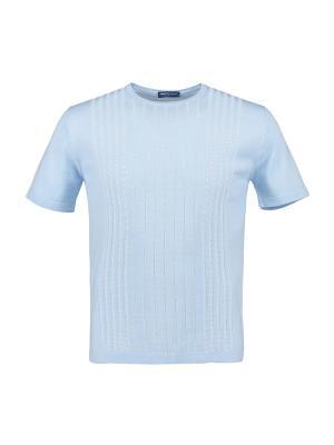 Футболка Umberto Vallati. Цвет: голубой