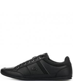 Черные кроссовки с втачной стелькой Lacoste. Цвет: черный