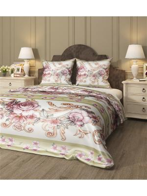 Комплект постельного белья Амадина, семейный Сирень. Цвет: желтый, белый, серый, розовый