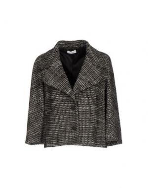 Пиджак LIST. Цвет: темно-коричневый