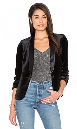 Бархатный пиджак в полоску James Jeans. Цвет: черный