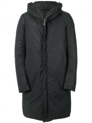 Стеганое пальто с капюшоном Poème Bohémien. Цвет: чёрный