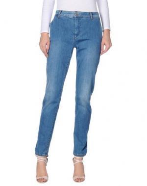 Джинсовые брюки LORENA ANTONIAZZI. Цвет: синий